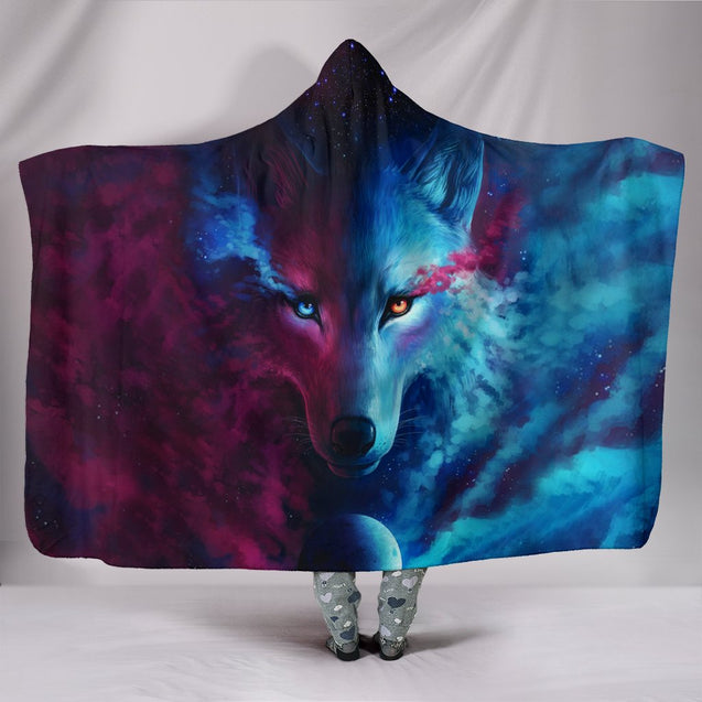 Wolf Hooded Blanket 1