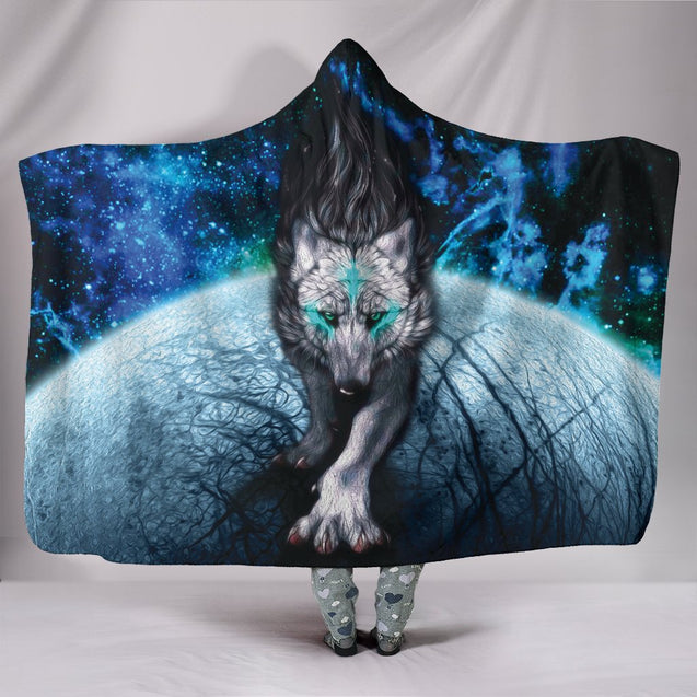 Wolf Hooded Blanket 2