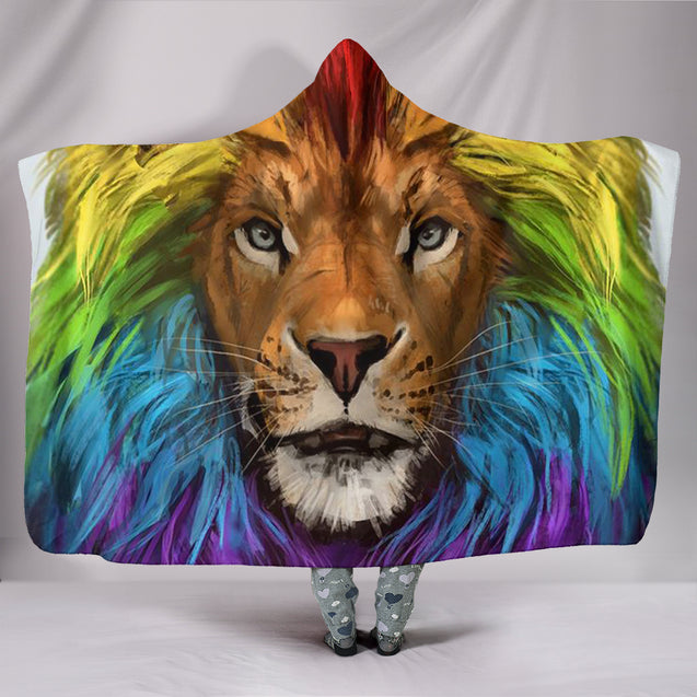 Rainbow Lion Blanket