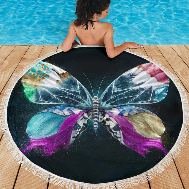 Magic Butterfly Round Towel