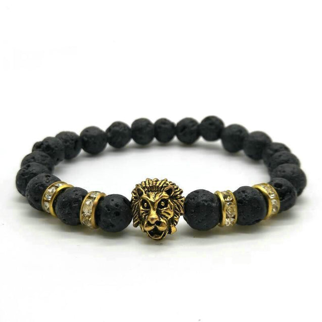 Antique Gold Lion Head Bracelet