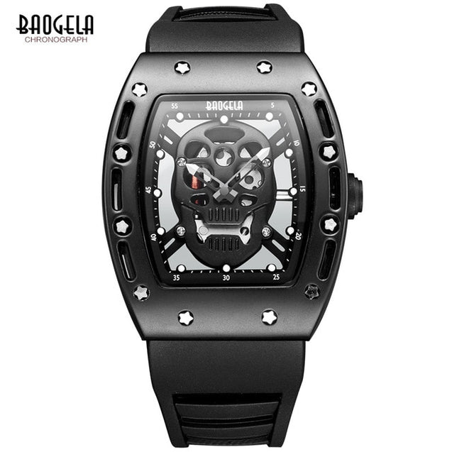 Baogela 2017 New Arrival Pirate Skull Style Quartz Men Watches Military Silicone Brand Sports Watch Waterproof Relogio Masculino