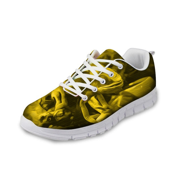 3D Trippy Yellow Sneakers