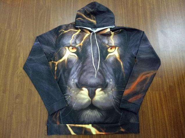 Awesome 3D Lion Hoodie