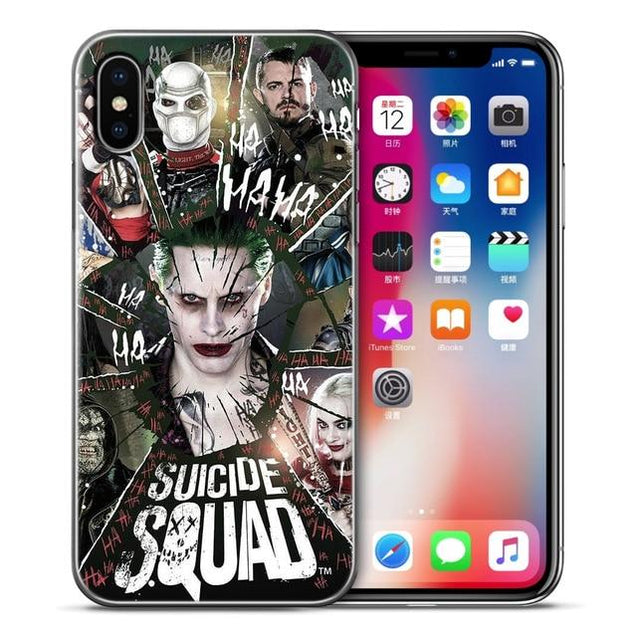 Suicide Squad The Avengers Soft TPU Silicone Cover For iPhone 6 6s 7 8 Plus Case for Apple iPhone X 5 5s SE 7Plus 6sPlus