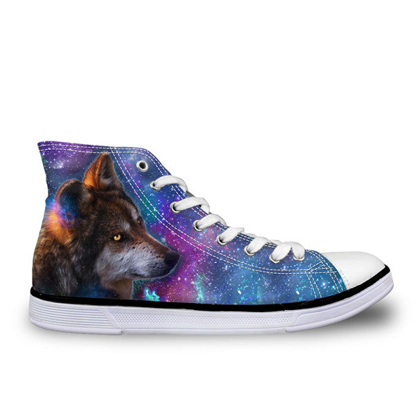 3D Space Wolf Shoes