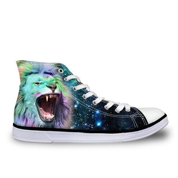 3D Lion Head Shoes