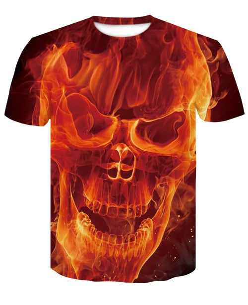 Awesome Flaming Skull Shirt