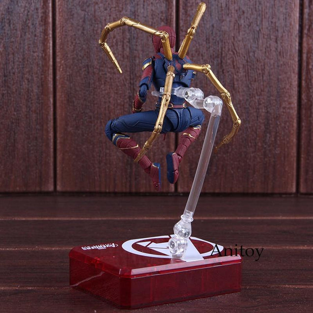 SHF S.H.Figuarts Marvel Avengers Infinity War Spiderman Iron Spider & Tamashii Stage PVC Action Figure Collectible Model Toy