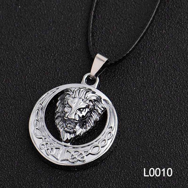 Silver Gold Stainless Steel Men Necklace Many Style Ancient Lion Alloy Accessories Pendant Cool Vintage Choker Necklace Gifts