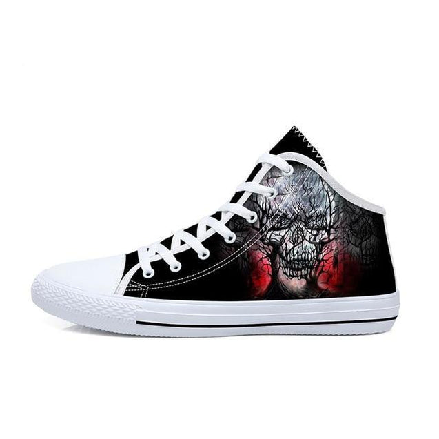 High Top Skull Shoes 6