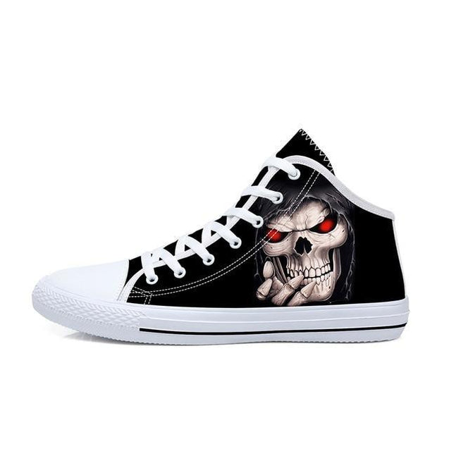High Top Skull Shoes 4