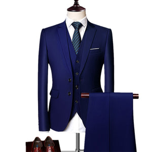 Three-piece Suit Blazers Coat Trousers Waistcoat