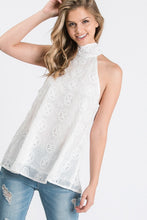 Load image into Gallery viewer, Halter Crochet Blouse in White
