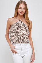 Load image into Gallery viewer, Leopard Print Ruffle Top