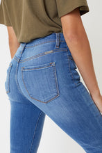 Load image into Gallery viewer, High Rise Button Fly Distress Bottom Skinny Jeans