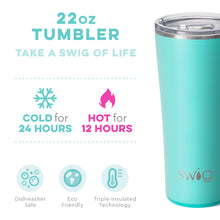 Load image into Gallery viewer, Matte Aqua Blue Tumbler