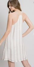 Load image into Gallery viewer, Linen Stripe Shift Dress