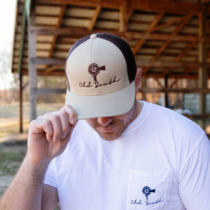 Old South Trucker Hat Khaki/ Brown