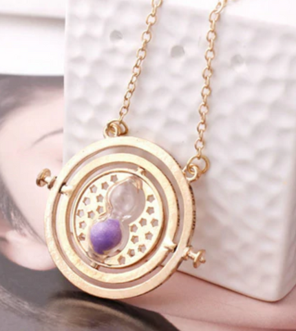 Hot Harry Potter Necklace Series Magic Gifts For Kids Gold Snitch Time-Turner Hogwarts Horcrux Pendant Chain Giratiempo Bijoux