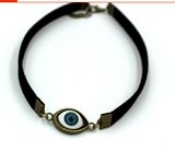 Protection eye Choker Necklace For girls & Women, Fashion Jewelry Black Velvet heart Pendant Necklaces