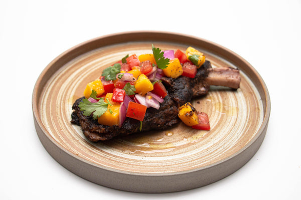 Coffee-Infused Slow-Roasted Iberico Pork Chop for Two 慢煮伊比利亞咖啡豬扒(二人份)[Daily Limited]
