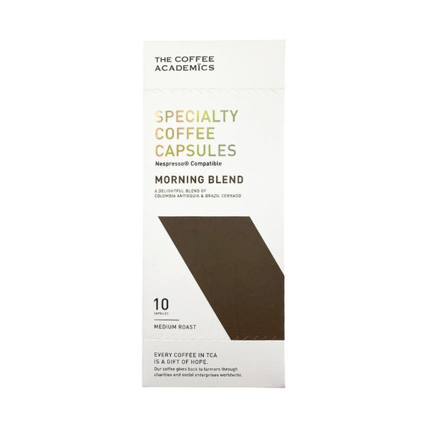 Morning Blend Coffee Capsules (Nespresso-compatible, 10 capsules per box) - The Coffee Academics