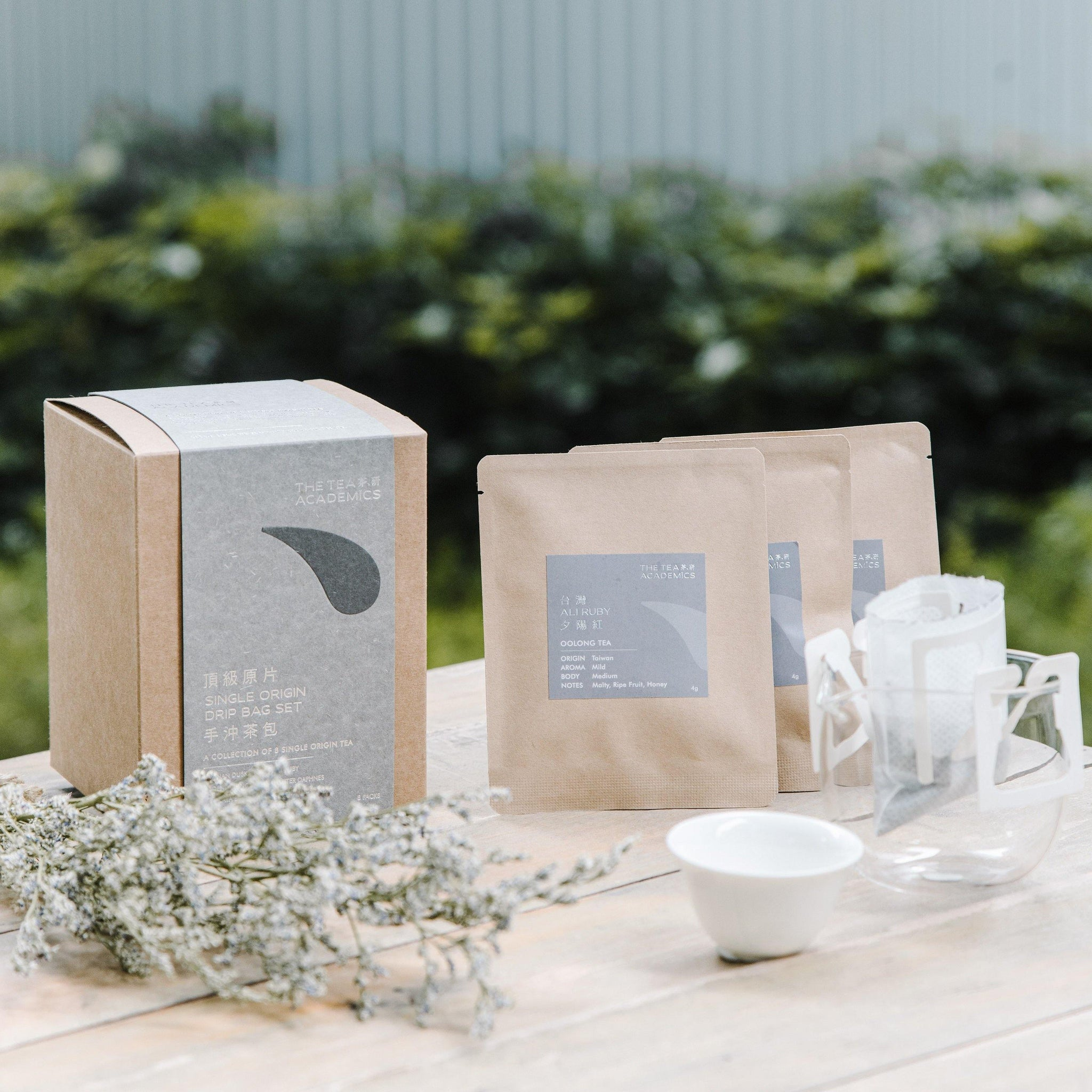 Single Origin Tea Drip Bag Set (8 Packs) - The Coffee Academics