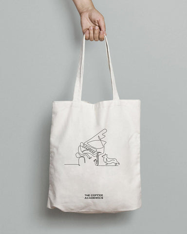 "Limited Edition ""Music & Paws"" Charity Tote Bag - The Coffee Academics"