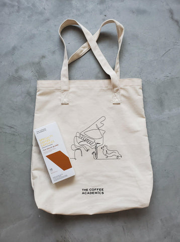 "Limited Edition ""Music & Paws"" Charity Tote Bag + Specialty Coffee Capsules - The Coffee Academics"