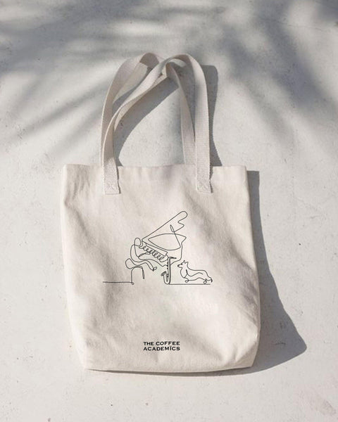 "Limited Edition ""Music & Paws"" Charity Tote Bag + Woof Twisters Dog Treats"