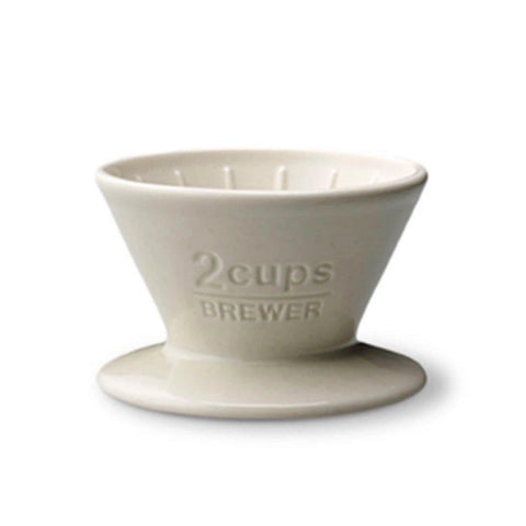 Kinto 2-Cup Ceramic Dripper - The Coffee Academics