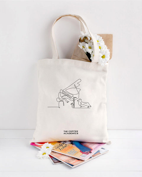 "Limited Edition ""Music & Paws"" Charity Tote Bag + Specialty Coffee Capsules"