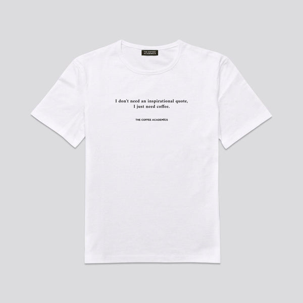 Coffee Quote Tees (White)