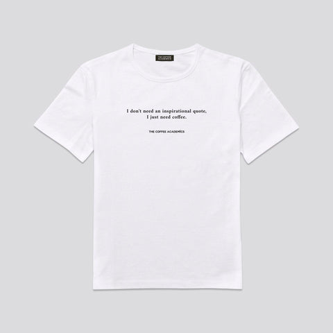 Coffee Quote Tees (White) - The Coffee Academics