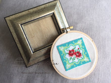 Load image into Gallery viewer, プラナカンビーズ刺繍額付き(プラナカンタイル) Peranakan Beading Kit (Tile)