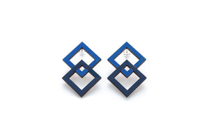 2 square earrings - Lolamohe