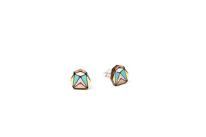 Mini Hexagon Earrings - Lolamohe