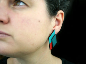 Rhomboidal Earrings - Lolamohe