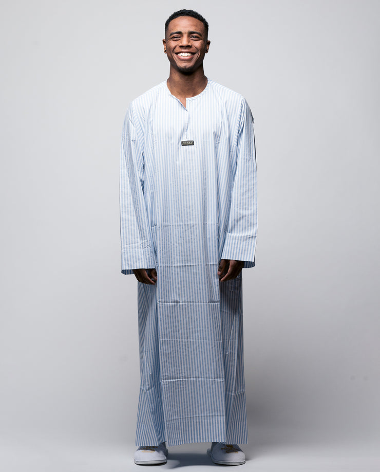 Djellaba Blue Stripes