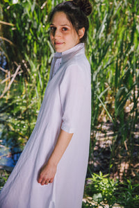 Regal Tunic - white cotton-linen