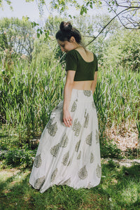 Panel Skirt - forest green
