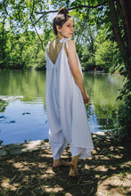 Load image into Gallery viewer, Breezy Jumpsuit - white cotton-linen