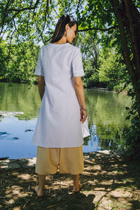 Airy Tunic - white cotton-linen