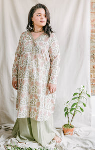 Airy Tunic - soft pink/sage