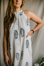 Load image into Gallery viewer, Edge Tunic - deep blue/sage