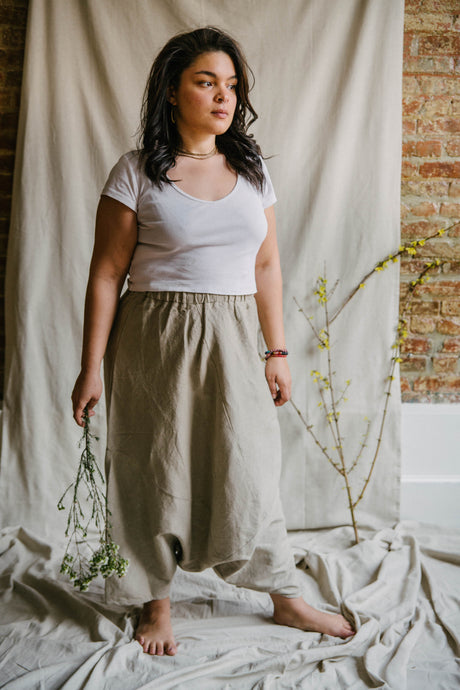 Harem Skirt Pants - linen
