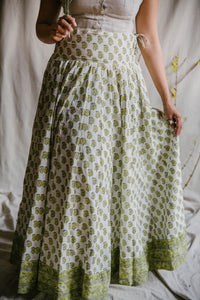 Panel Skirt - yellow/sage