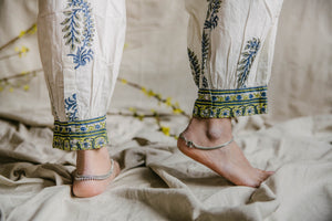 Yogi Ankle Pants - deep blue/sage