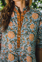 Load image into Gallery viewer, Regal Tunic - sky blue/orange